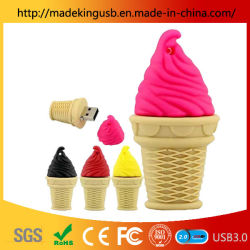 Custom Pvc Creative Ice Cream Usb Flash Drive / Mini Cone Ice Cream Usb Stick