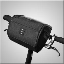Guiador impermeável Saco de bicicletas com PVC bolso para telemóvel, Aluguer de bolsa com alça de ombro pode tomar como Saco de ombro, lingue Bag para diariamente e piscina