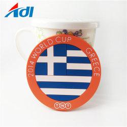 Promotion Bussiness cadeau CHEAP OEM thé personnalisé en PVC souple en caoutchouc de silicone de la bière tasse de thé Coasters pour boire un logo personnalisé