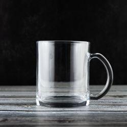 12ozは卸し売りするハンドルのコーヒー・マグ(P9680)が付いている高く白いカラービールガラスのマグの飲むガラスのコップを