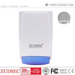 Um som externo de backup de bateria Sirene de strobe Flash para segurança doméstica