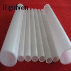 Quartz silice opaque blanc laiteux tubes en verre pour la vente de Tube de Tuyau