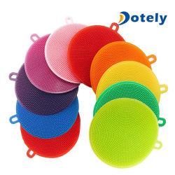 Brosse en silicone Magic plat outil Pan se laver les brosses de nettoyage des éponges de tampons à récurer