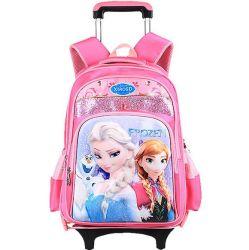 어린이 가방 - 사텔 백팩 패션 방수 분리형 카툰 트롤리 스쿨 백