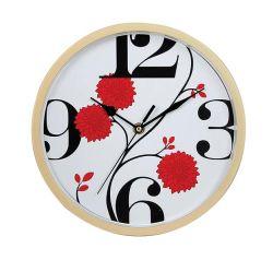 10인치 둥근 황토색 홈 장식 아랍의 숫자 벽 시계