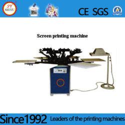Rotação automática Multi-Color T-shirt Saco de Anúncio de brinquedos de logotipo etiqueta de couro Impressora máquina de impressão de tela