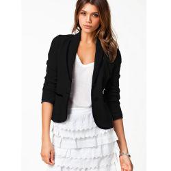 Slim Fit Blazer Voor Dames Kantoor Past Reasted Suit