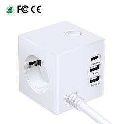 Carga rápida USB 3.0 Universal Tipo C 45W Estação de acoplamento USB 3 carregador de telemóvel com ficha de CA