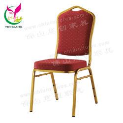 Yc-Zg11A 싸게 현대 쌓을수 있는 빨간 직물 금 금속 프레임 회의 대중음식점 가구 의자