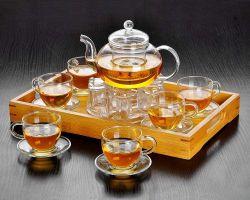 Copos de vidro copos de vidro Teaset chaleira
