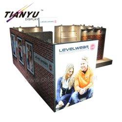 Tendência futura Design de extrusão de alumínio reutilizáveis 20X20FT Venda Roupas Trade Show Booth