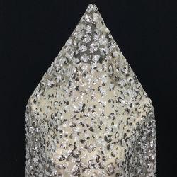 Vert foncé Crystal Sequin Tissu Tulle tissu Robe de mariée de broderie