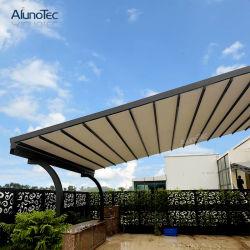 Personnaliser Outdoor toit coulissant Pergola auvent rétractable motorisé côté