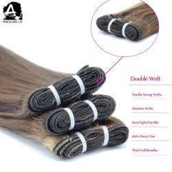 Cuticle Angelbella совмещены с другой стороны волос связаны Virgin Индийского Реми Weft волос