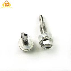 DIN7504k oblea hexagonales cabeza con el tornillo de perforación de la arandela de caucho EPDM de servidumbre