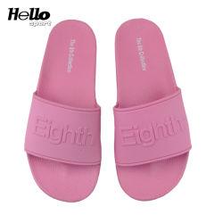 Hellosport Novo Descalça plana para senhoras 2019, Piscina Comfort chinelos para as mulheres Verão deslize sandálias, PVC OEM slides personalizada de logotipo