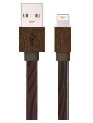 Фги деревянные-end USB на молнии плоский кабель для iPhone