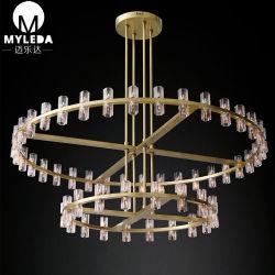 居間の食堂テーブルまたは寝室の優雅な照明のための明確なガラス天井灯の据え付け品のシャンデリアの照明