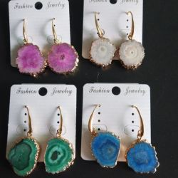 زاويّة طبيعيّ بلّوريّة عنقود حجارة حلول فريد أنثى أذن مجوهرات [جود] عقيق مدلّاة كلاب حلول