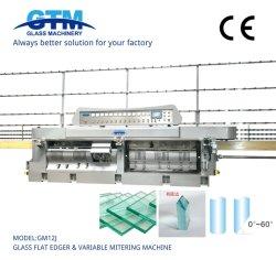 GM12j Glas Flachkante und variable Gehrung Kantenpolieren Bearbeitungsmaschine Bohren Waschen Sandstrahlen Abschrägmaschinen