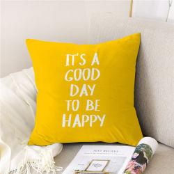 Impresos digitales almohada personalizada decoración asiento sofá Cojín de algodón poliéster textil hogar blando cojín decorativo