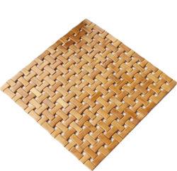 Decoração japonesa a tampa do assento de banco de bambu na cor natural