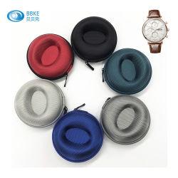 Logo personnalisé des boîtes de fermeture à glissière imperméable EVA Watch cas Portable en velours de cuir carbone Case EVA Watch Watch Watch de voyage unique de l'Organiseur de cas de stockage de cas