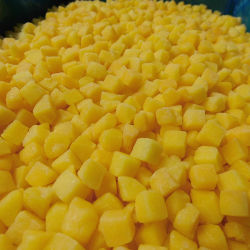 Bevroren IQF dobbelde Gele Perziken Bevroren Vruchten