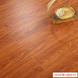 가정용 방수형 지열 15mm 따뜻한 오크 다층 3중 솔리드 우드 복합 나무 바닥
