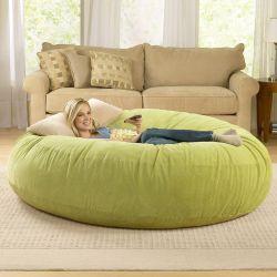 Personalizado 3 4 5 6 7 8FT redonda grande cubierta de la bolsa de semillas relajarse cómodo bean bag Sofá Salón sillas