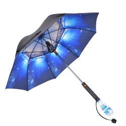 Grote buitenlamp met rechte lange bobone UV-bescherming zonnescherm Regen Gift Custom Spray Fan Reclame regen Paraplu