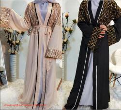 Commerce de gros Factroy la vente de femmes musulmanes robe robe de soirée islamique à manchon long manteau laides fashion robe robe de vêtements de Dubaï Canada Abaya Singapour longue robe de chambre