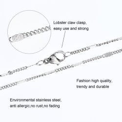 In reliëf gemaakte de Rand van de Juwelen van het Roestvrij staal van de Halsband van de Juwelen van het Kostuum van de Ketting van de Toebehoren van de manier 316L