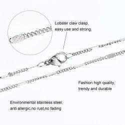Cadeia de acessórios de moda Bijuterias colar o aço inoxidável 316L refrear as jóias em relevo