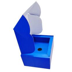 Lieferanten-kundenspezifischer blauer faltbarer Farben-Drucken-elektronischer Produkt-Verpacken-Einlage-gewölbter Verpackungs-Verschiffen-Karton-Großhandelskasten für Telefon/Kopfhörer