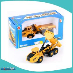 Kdw vendedor caliente 1: 87 Escala Escala Ho Troquelado Dumper Truck Mini Dumper vehículo para niños