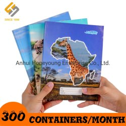 アフリカ向けの工場卸売 A4/A5 グルーバインディングスクールノートブック