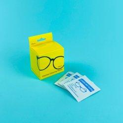 レンズのクリーニングのワイプ、前湿めさせたガラス磨きスプレー使い捨て可能なAnti-Fogスクリーンのワイプ