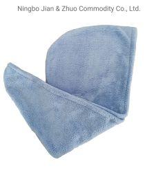 Brocade Poliéster reutilizáveis Coral Azul puro veludo mulheres cabelos secos Pac Toalha de cabelo a absorção de água