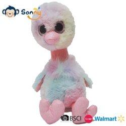 Фаршированные реактивной тяги на основе красителя розового цвета поговорить выступая страусов малыша фламинго