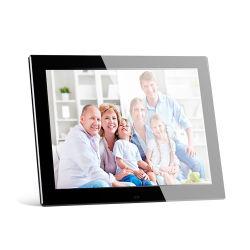 """백색 또는 12 """" 아크릴 디지털 사진 프레임 12inch 전자 액자 전시 지원 MP3 영상 루프를 검게 하십시오"""