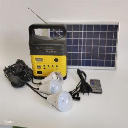 نظام ترفيه منزلي محمول يعمل بالطاقة الشمسية مع راديو موسيقى للإضاءة نظام الطاقة الشمسية الوظيفة