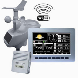 Estación meteorológica profesional sin hilos con la visualización de WiFi y de color de TFT