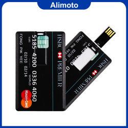 Alimoto fina de plástico Cartão Flash USB