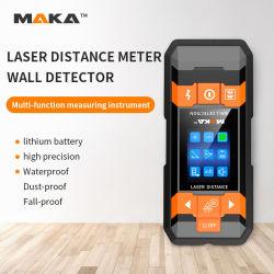 FDA Intertek CE RoHS FCC Mk2101c Maka マルチファンクションレーザー距離測定器、壁スキャナ、鉄筋、金属検出器、スタッドファインダ付き