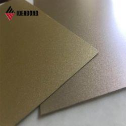 O projecto de construção de preço competitivo 4mm em alumínio prateado Painel decorativo