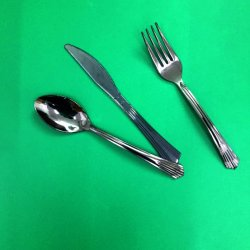 堅いプラスチック食事用器具類の一定のスプーンのフォークのナイフ