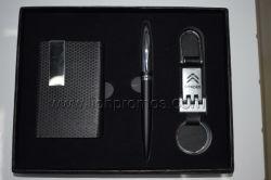 Casella del supporto di scheda di nome dell'unità di elaborazione di marchio del regalo di affari di vendite dell'automobile, insieme del regalo della penna del metallo di Keychain