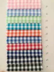 Polyester coton fils teints T/C vérifier avec Lycra Spandex Stretch tissu élastique
