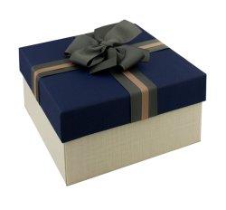 Fancy couvercle bleu marine et de la base de l'emballage boîte cadeau de papier